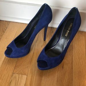 Emilio Pucci blue suave leather heels